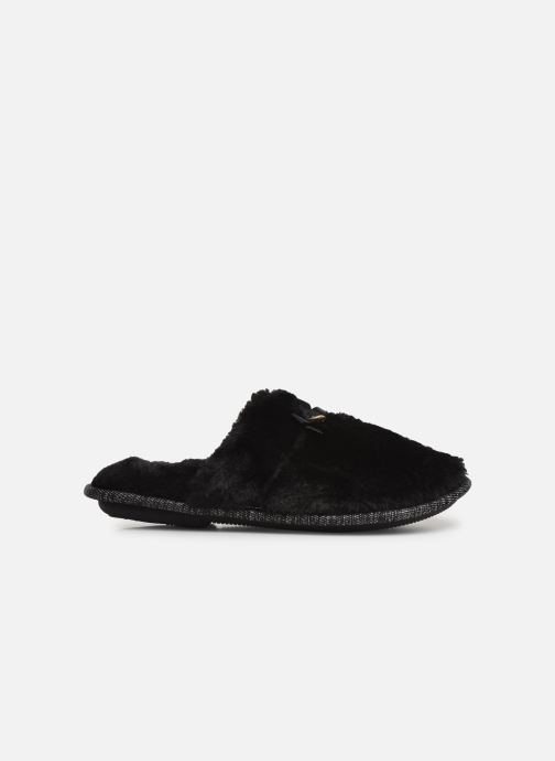 Slippers Isotoner Mule plate fourrure Black back view