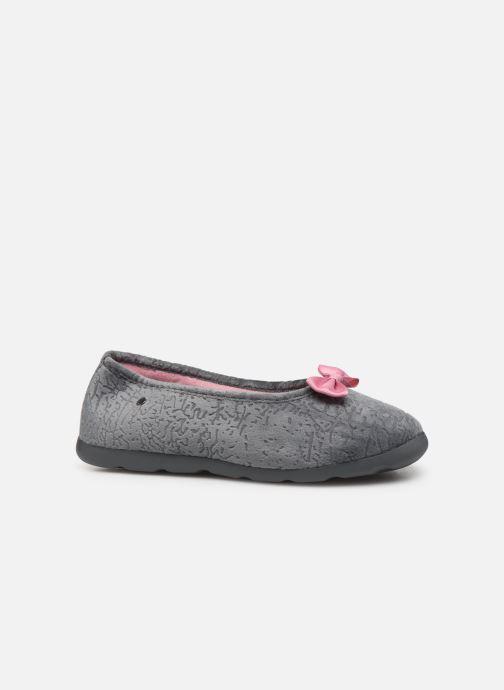 Pantoffels Isotoner Ballerine velours texturé Xtra flex Grijs achterkant