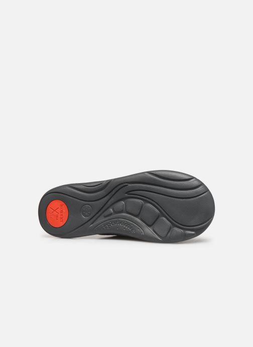 Pantofole Isotoner Mule velours texturé semelle ergonomique Xtra flex Grigio immagine dall'alto