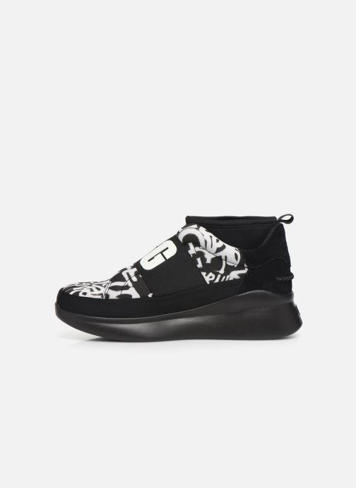Sneaker UGG Neutra Sneaker Graffiti Pop schwarz ansicht von vorne