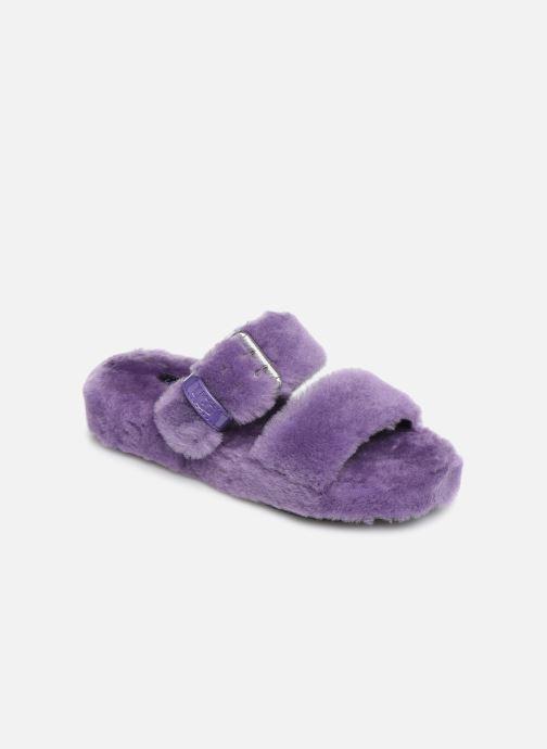 Chaussons UGG Fuzz Yeah Violet vue détail/paire