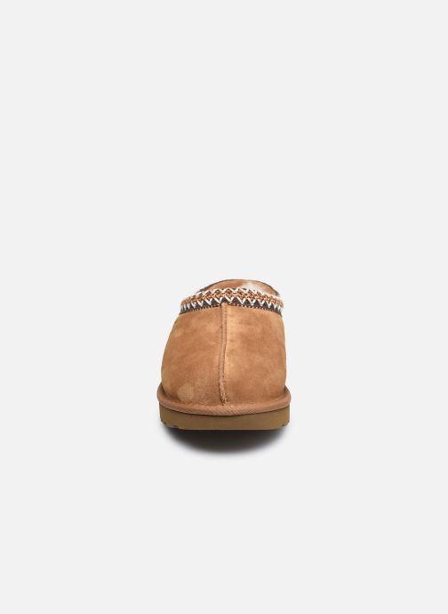 Hausschuhe UGG Tasman braun schuhe getragen