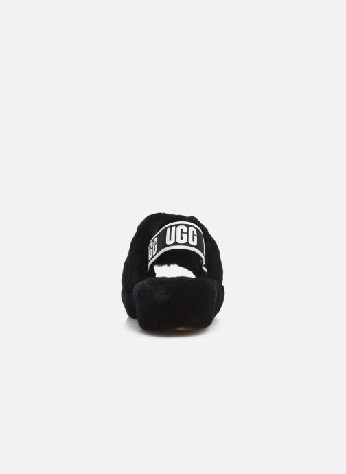 Slippers UGG Fluff Yeah Slide Black view from the right
