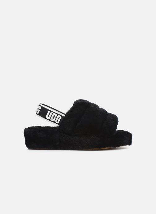 Slippers UGG Fluff Yeah Slide Black back view