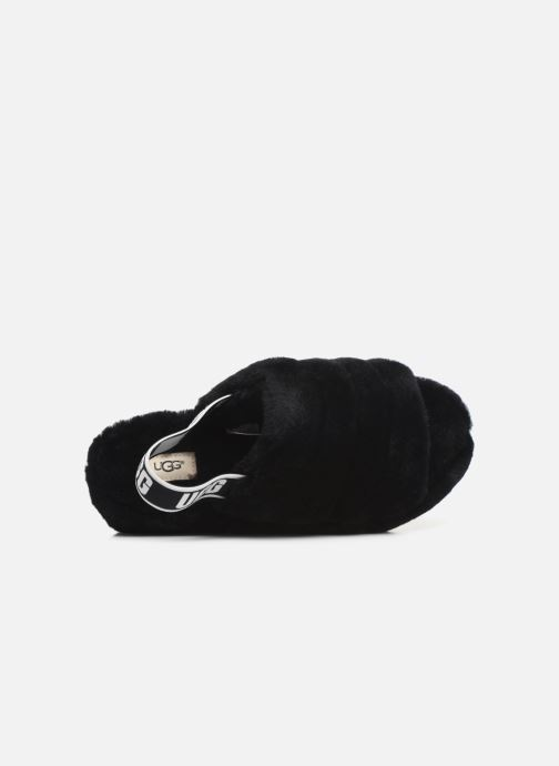 Slippers UGG Fluff Yeah Slide Black view from the left