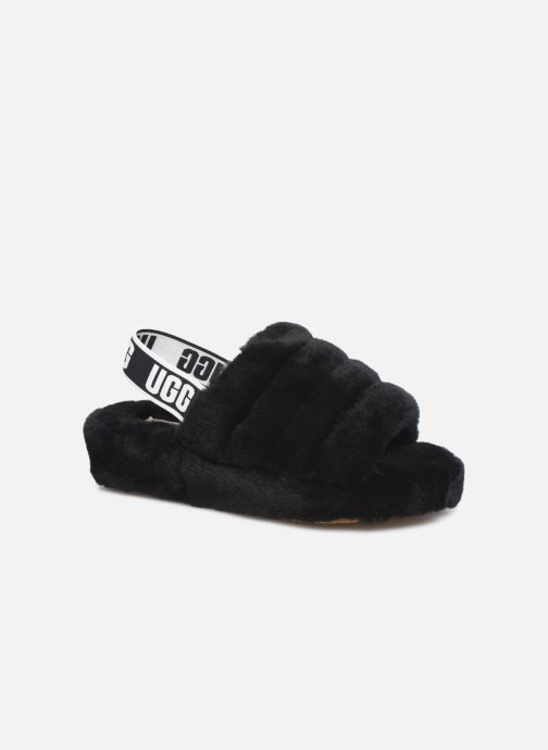 Slippers UGG Fluff Yeah Slide Black detailed view/ Pair view
