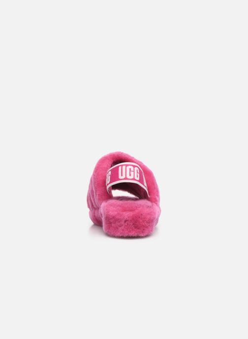 Hausschuhe UGG Fluff Yeah Slide rosa ansicht von rechts