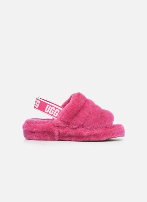 Hausschuhe UGG Fluff Yeah Slide rosa ansicht von hinten