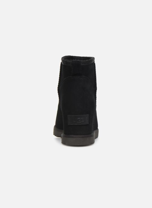 Ankle boots UGG Classic Femme Mini Black view from the right