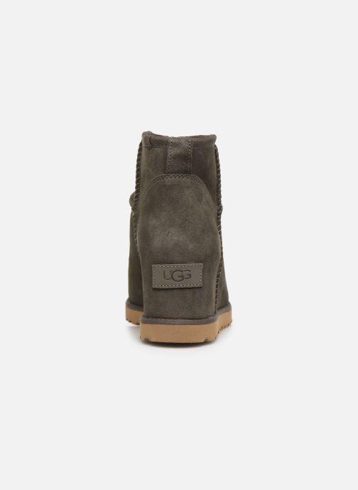 Stiefeletten & Boots UGG Classic Femme Mini grau ansicht von rechts