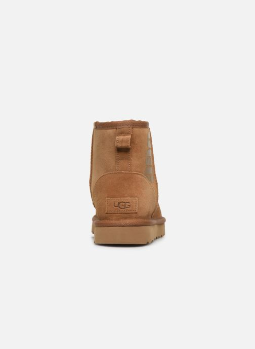 Bottines et boots UGG Classic Mini Ugg Rubber Logo Marron vue droite