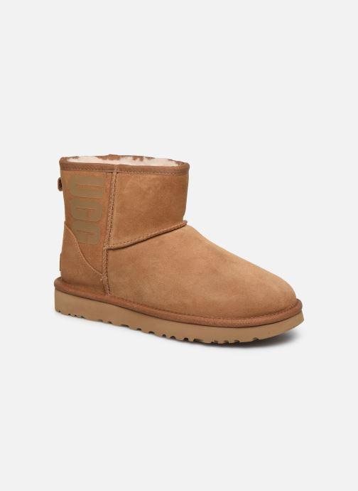 Bottines et boots UGG Classic Mini Ugg Rubber Logo Marron vue détail/paire