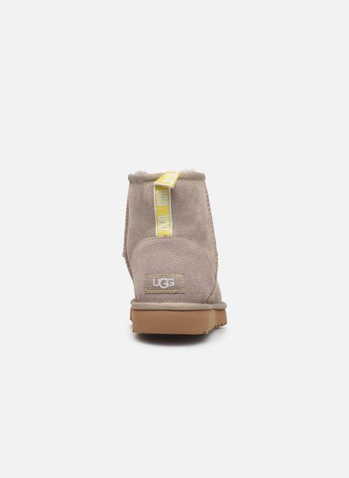 Bottines et boots UGG Classic Mini II Graphic Logo Beige vue droite