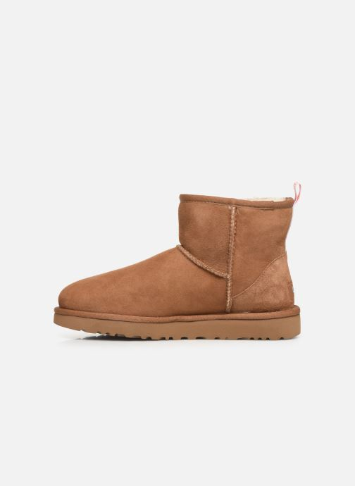 Bottines et boots UGG Classic Mini II Graphic Logo Marron vue face