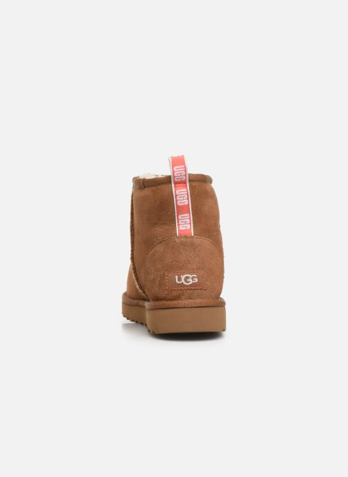 Botines  UGG Classic Mini II Graphic Logo Marrón vista lateral derecha