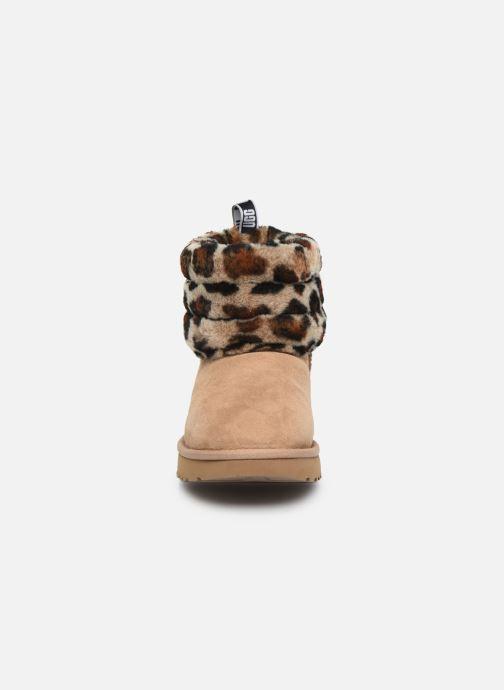 Bottines et boots UGG Fluff Mini Quilted Leopard Beige vue portées chaussures