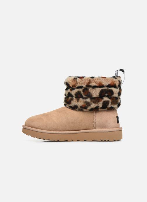 Bottines et boots UGG Fluff Mini Quilted Leopard Beige vue face