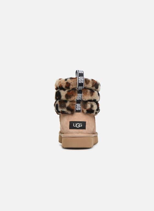 Bottines et boots UGG Fluff Mini Quilted Leopard Beige vue droite