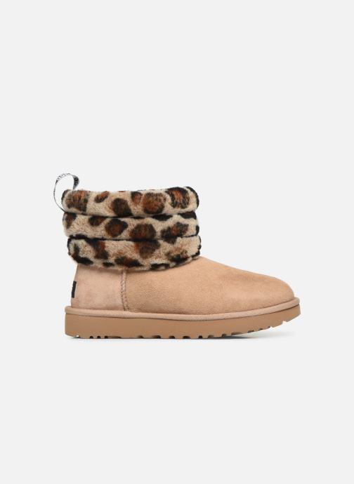 Bottines et boots UGG Fluff Mini Quilted Leopard Beige vue derrière