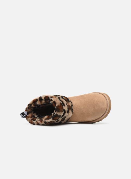 Bottines et boots UGG Fluff Mini Quilted Leopard Beige vue gauche
