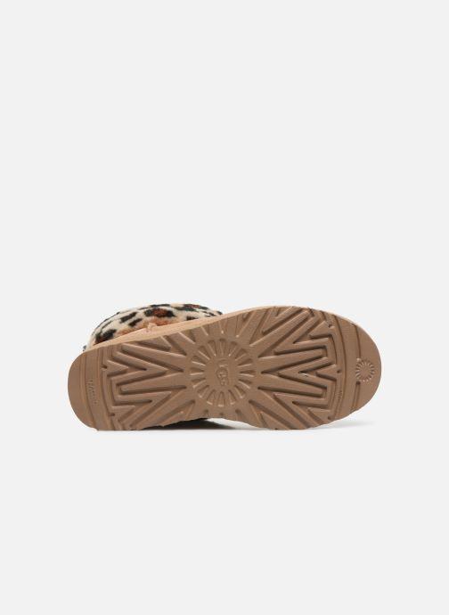 Bottines et boots UGG Fluff Mini Quilted Leopard Beige vue haut