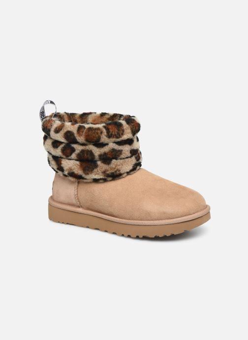 Bottines et boots UGG Fluff Mini Quilted Leopard Beige vue détail/paire