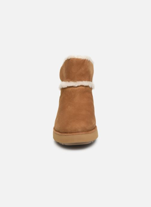 Stiefeletten & Boots UGG Classic Mini Spill Seam BLVD braun schuhe getragen
