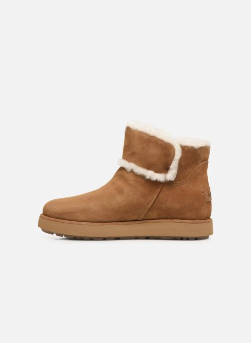 Botines  UGG Classic Mini Spill Seam BLVD Marrón vista de frente