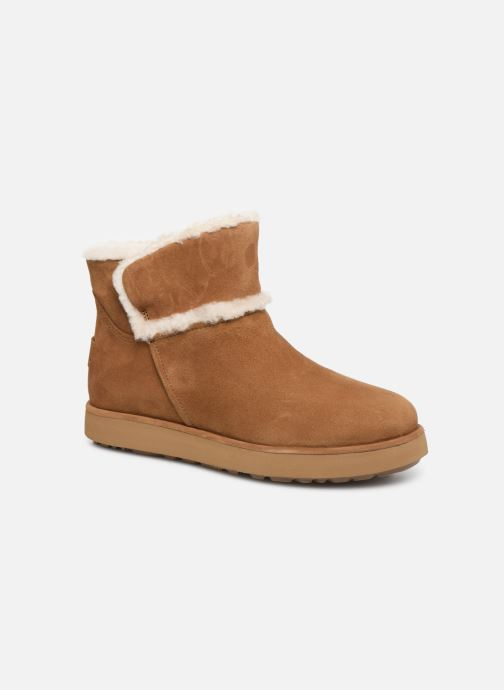 Bottines et boots UGG Classic Mini Spill Seam BLVD Marron vue détail/paire