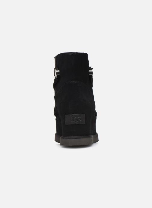Bottines et boots UGG Classic Femme Lace-up Noir vue droite