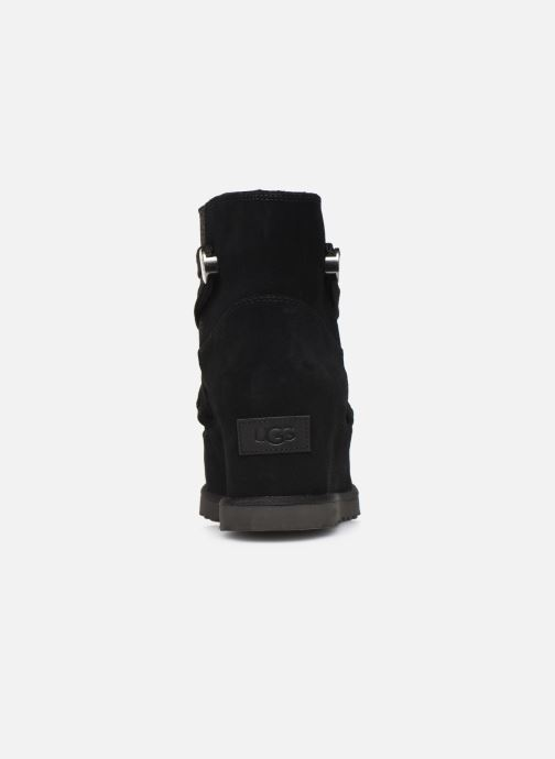 Botines  UGG Classic Femme Lace-up Negro vista lateral derecha