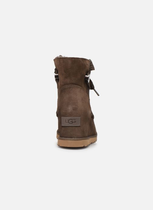 Botines  UGG Classic Femme Lace-up Marrón vista lateral derecha