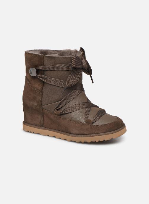 Bottines et boots UGG Classic Femme Lace-up Marron vue détail/paire