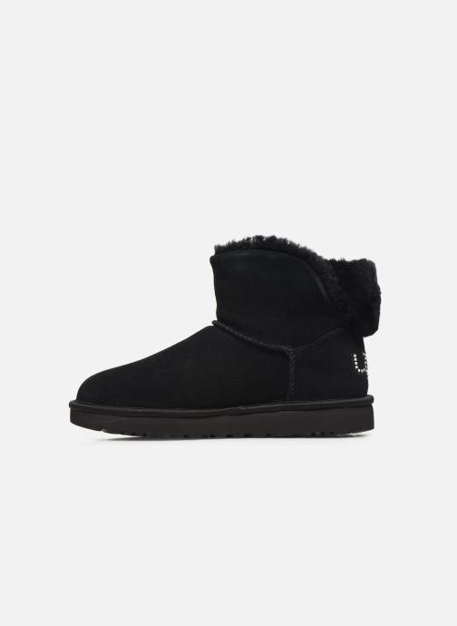 Boots en enkellaarsjes UGG Classic Bling Mini Zwart voorkant