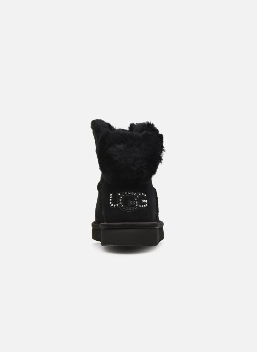 Ankle boots UGG Classic Bling Mini Black view from the right