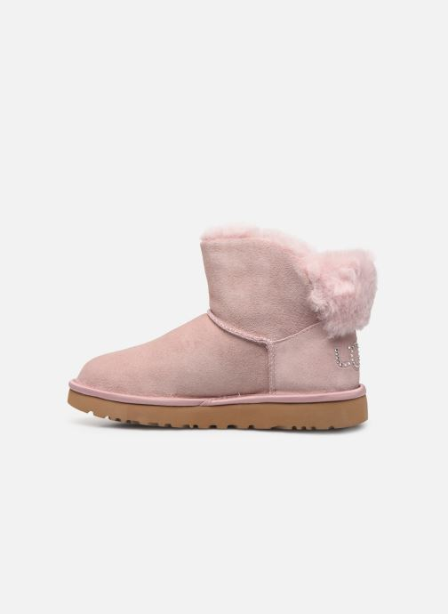 Bottines et boots UGG Classic Bling Mini Rose vue face