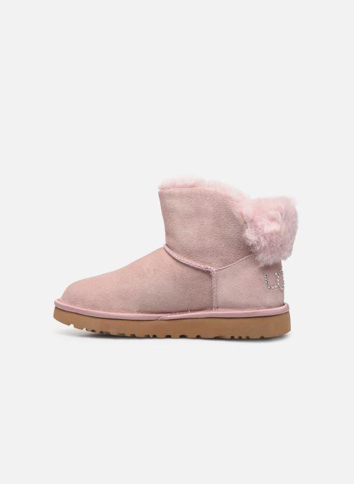 Bottines et boots UGG Classic Bling Mini Rose vue face
