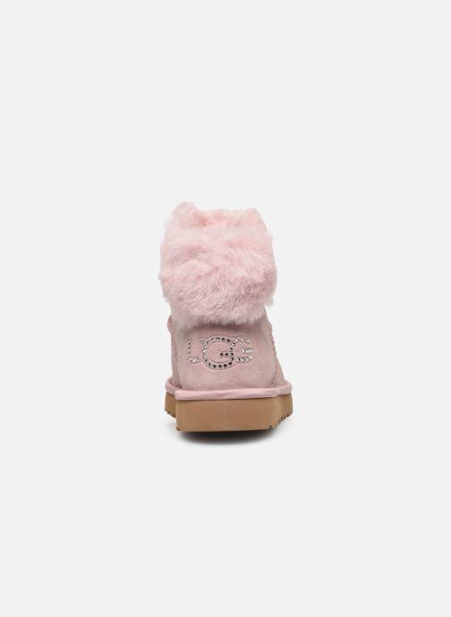Botines  UGG Classic Bling Mini Rosa vista lateral derecha