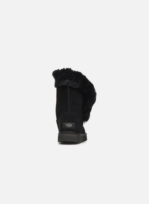 Bottines et boots UGG Classic Fluff Pin Noir vue droite