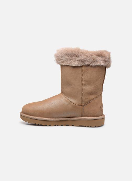 Bottines et boots UGG Classic Fluff Pin Marron vue face
