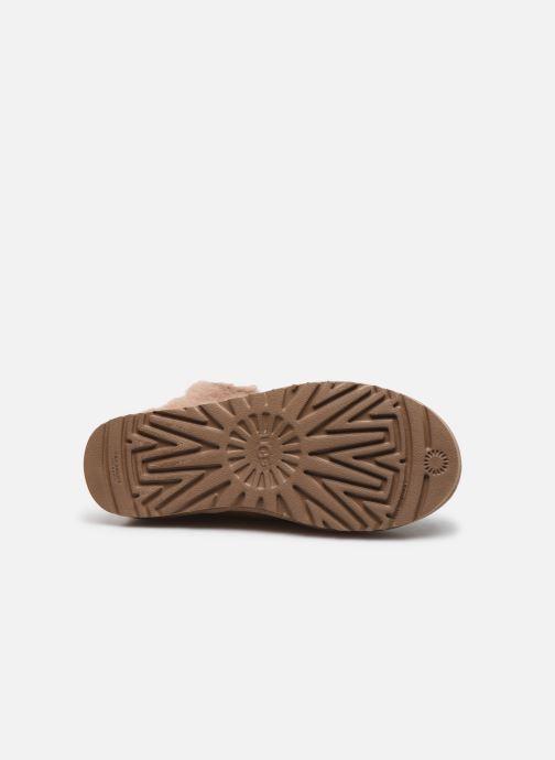 Bottines et boots UGG Classic Fluff Pin Marron vue haut