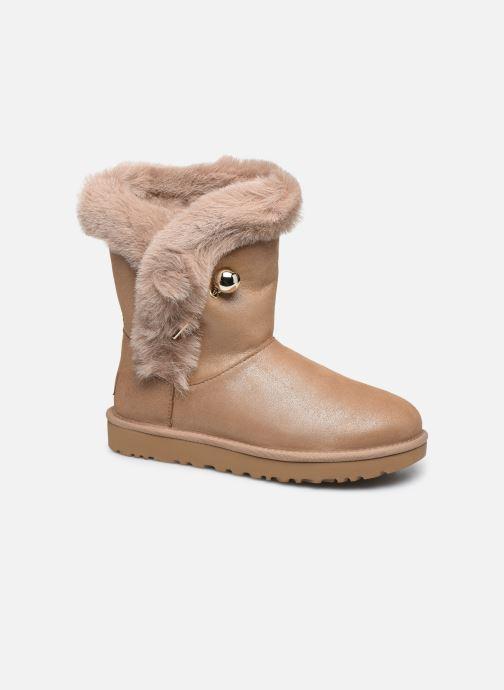 Bottines et boots UGG Classic Fluff Pin Marron vue détail/paire