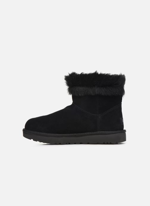 Bottines et boots UGG Classic Fluff Pin Mini Noir vue face