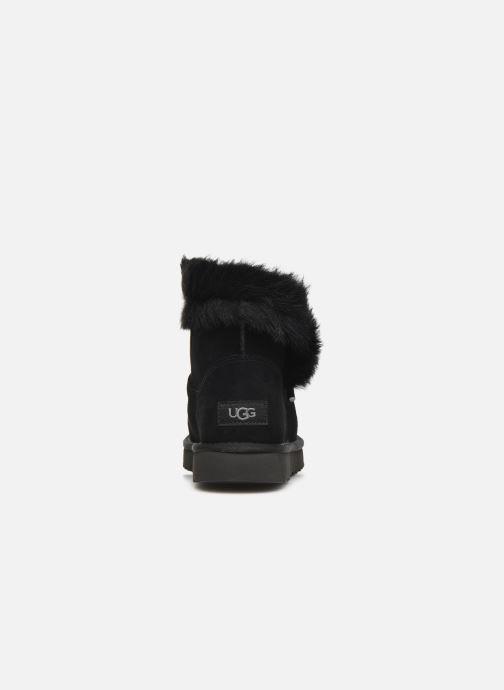 Bottines et boots UGG Classic Fluff Pin Mini Noir vue droite