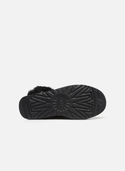 Bottines et boots UGG Classic Fluff Pin Mini Noir vue haut
