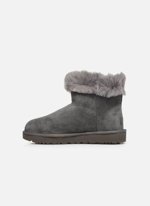 Bottines et boots UGG Classic Fluff Pin Mini Gris vue face