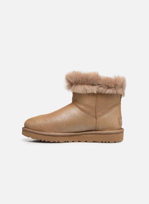 Bottines et boots UGG Classic Fluff Pin Mini Or et bronze vue face