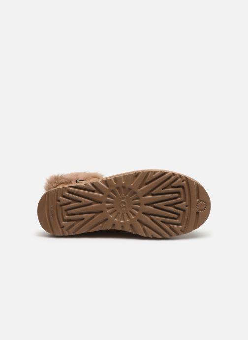 Bottines et boots UGG Classic Fluff Pin Mini Or et bronze vue haut