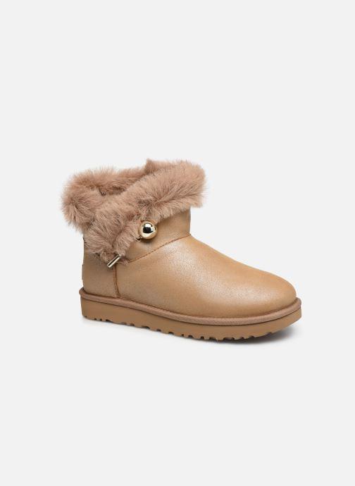 Bottines et boots UGG Classic Fluff Pin Mini Or et bronze vue détail/paire