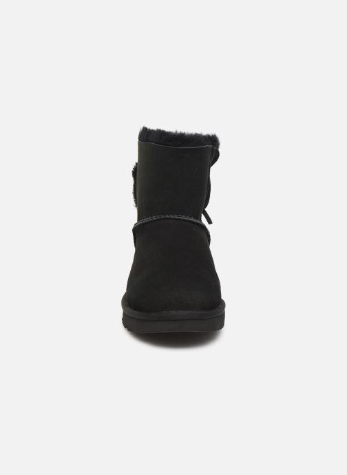 Stiefeletten & Boots UGG Classic Double Bow Mini schwarz schuhe getragen